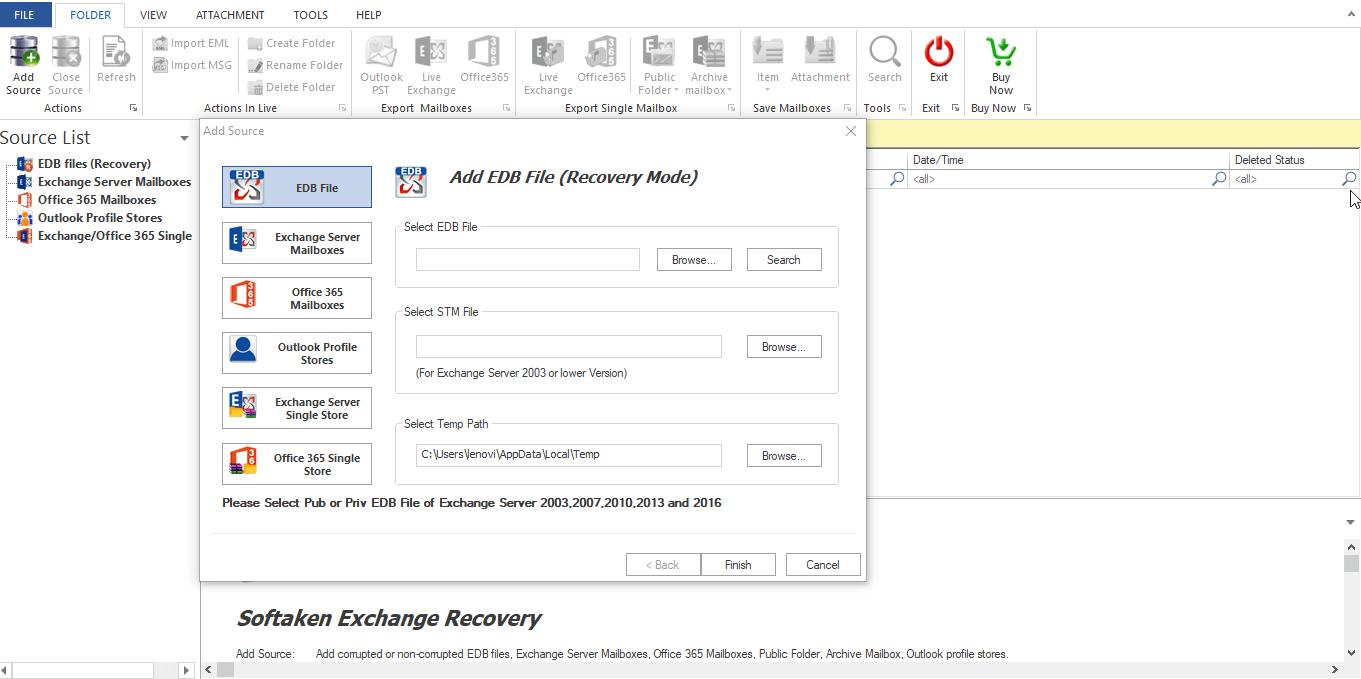 WholeClear EDB Converter full screenshot