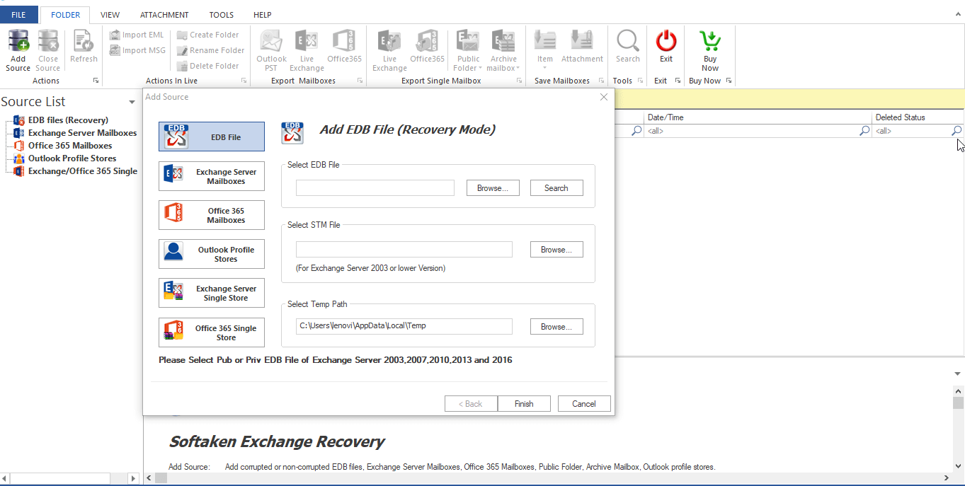 WholeClear EDB to PST Converter full screenshot