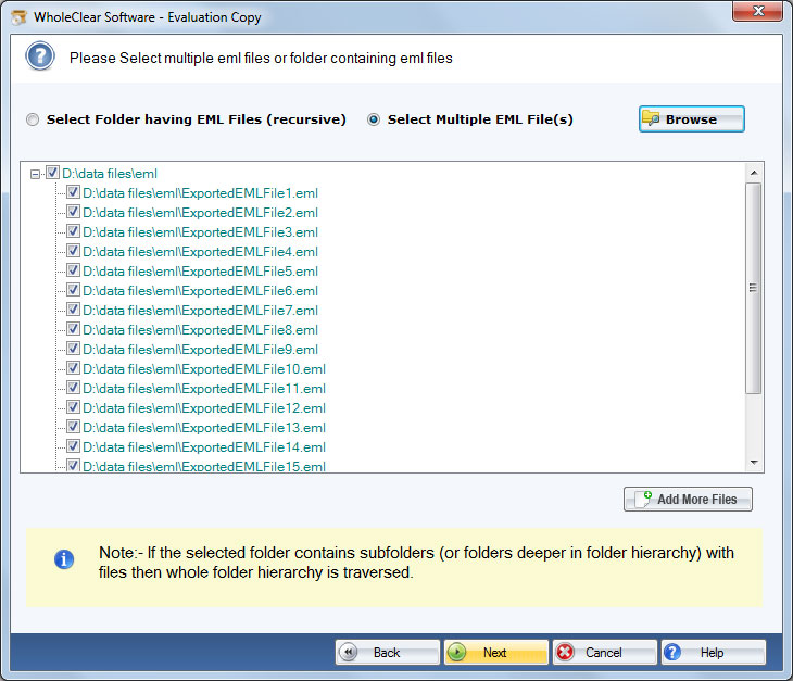 Windows 7 WholeClear EML Converter 2.0 full